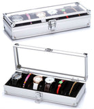 6 slot aluminium watch box