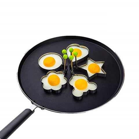 Stainless steel fried egg mould - set of 2