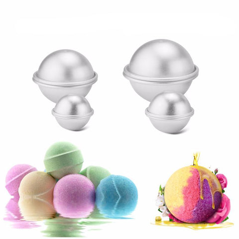 DIY natural bath bomb metal mould 3 pack