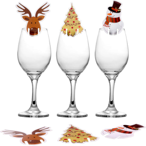 Wine glass decoration card lot