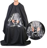 Hair cutting cape with front window