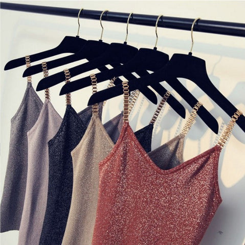 Metal strap top for women