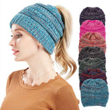 Ponytail knitted hat