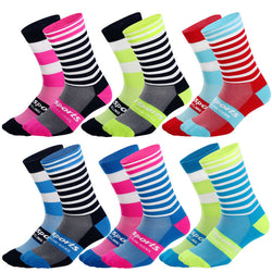 Colourful sports compression socks 2 pairs