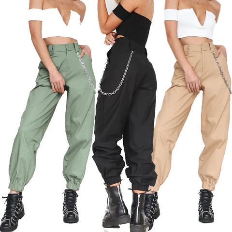Women's high waist cargo pants