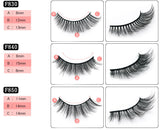 3D false eyelashes set of 10