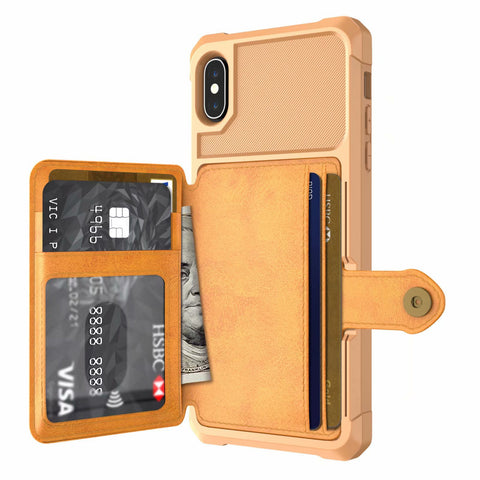 PU Leather wallet case for iPhone