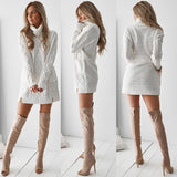 Knitted mini sweater dress