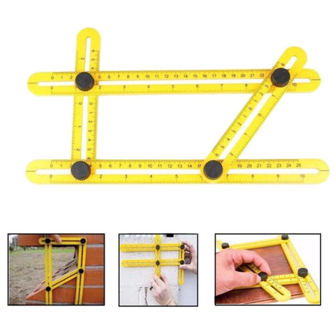 Angle-izer template tool four-sided measuring ruler