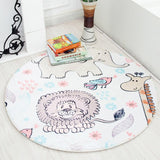 Baby round cartoon play mat