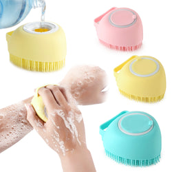 Heart shaped silicone shower brush