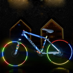 Bicycle wheel reflective stickers set of 2