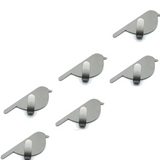 Multipack stainless steel household hooks