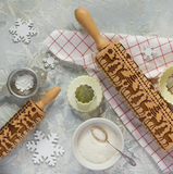 Christmas themed rolling pin