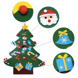 Kids DIY Christmas tree with decorations