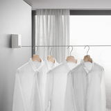 Retractable wall hanger for clothes