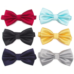 Colourful bow tie for men - set of 4
