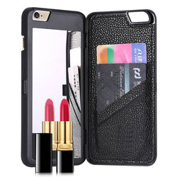 iPhone cover with mirror & card slot