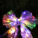 Bow knot LED Christmas wrapping ribbon