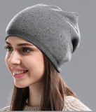 Knitted beanie winter hat