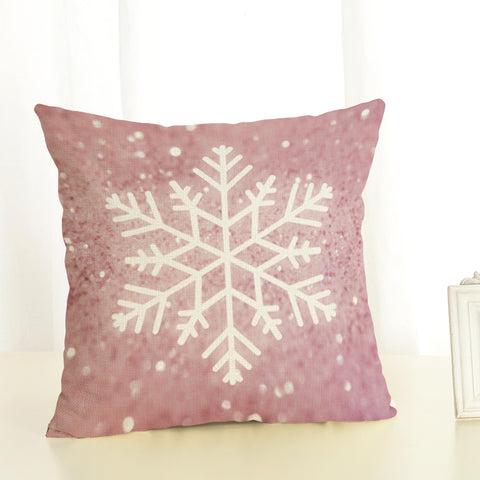 Snowflake sparkling cushion cover