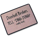 Funny door entrance mat