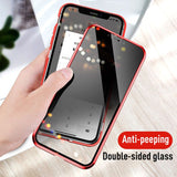 Magnetic double-sided glass cover for iPhone