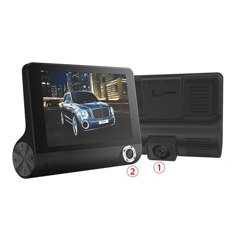 Car DVR 3 lens dash front & back camera