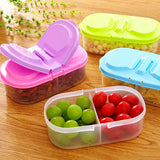 Double sided food storage box