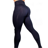 Elastic yoga pants with pockets