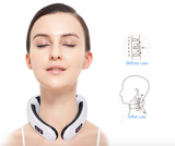 Pulsing neck massage device