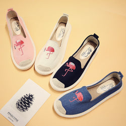Embroidered canvas shoes