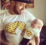 Family matching pizza T-shirts