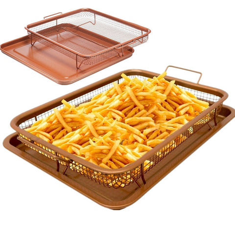 Rectangle crisp & french fry tray