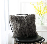 Plush furry cushion cover