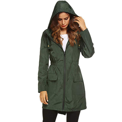 Waterproof hooded coat for women