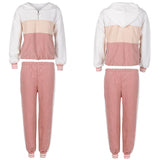 Hooded two piece tracksuit set for women