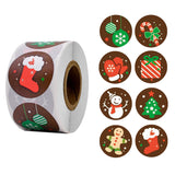 Merry Christmas stickers roll of 500pcs
