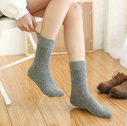 Thick solid color socks 2 pairs