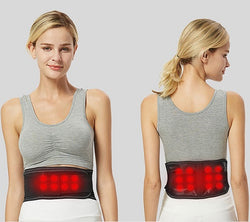 Double sided self-heating magnetic waist belt