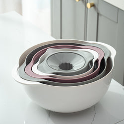 Multifunctional 5 piece kitchen bowls set