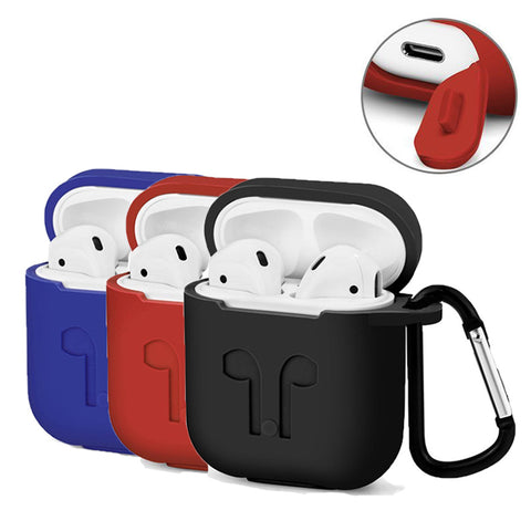 3 in 1 silicone earphone pouch for Apple AirPods