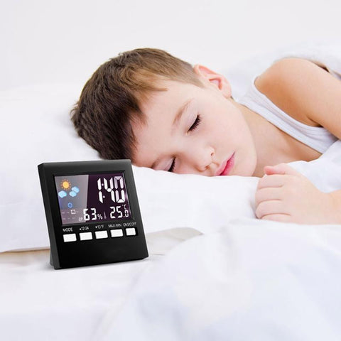 Indoor thermometer alarm clock