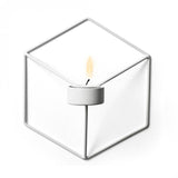 3D Nordic style geometric wall candle holder