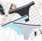 Cotton tanga panties 3 pack