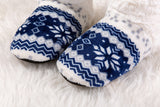 Snowflake warm home boots