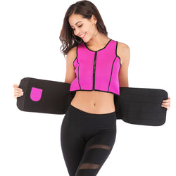 Neoprene top with waist trimming belt