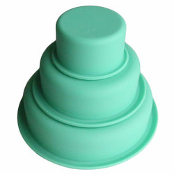 Set of 3 tier cake silicone moulds