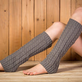 Knitted winter boot cuffs