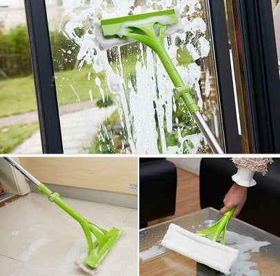 Telescopic glass cleaning mop